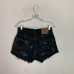 Levi's Shorts - Vintage Levi's hi rise denim shorts bleach splat